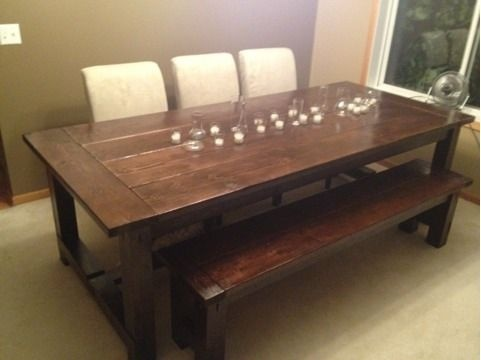 Dining Room Table And Bench For The Home Dining Rooms Pinterest