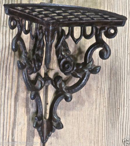wrought iron corner shelf bracket stairwell projects. Black Bedroom Furniture Sets. Home Design Ideas