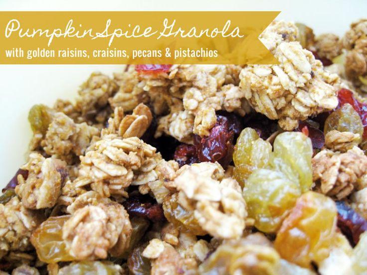 Easy pumpkin spice granola recipe with pumpkin puree, brown sugar ...