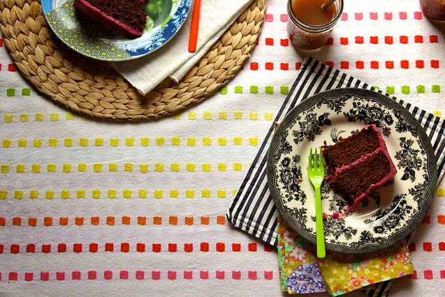 ... of the icing - CHOCOLATE BEET CAKE WITH BEET CREAM CHEESE FROSTING