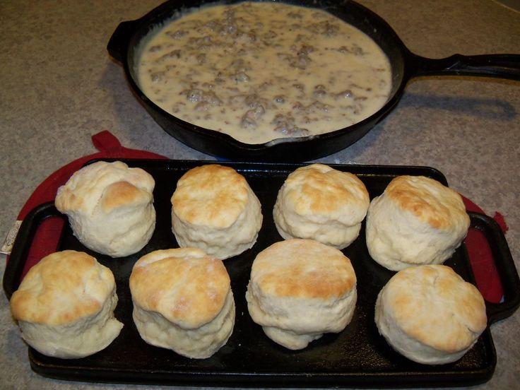 Buttermilk Biscuits and Pork sausage gravy recipe https://www.facebook ...