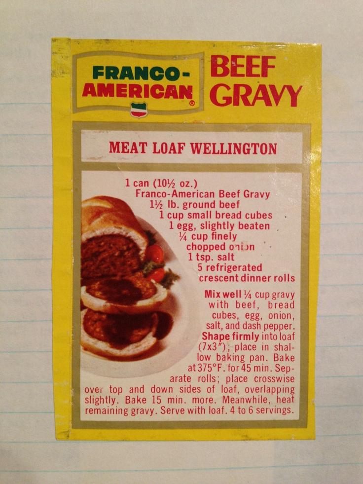Meat Loaf Wellington | Hells Diner | Pinterest