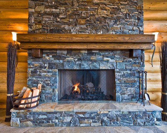 Okanagan log home fireplace home addition ideas pinterest for Log home fireplace pictures