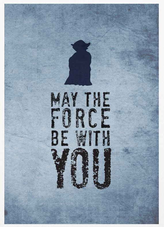 Oh I love this. Star Wars - May The Force Be With You - A3 Poster Vintage Print. $18.00, via Etsy.