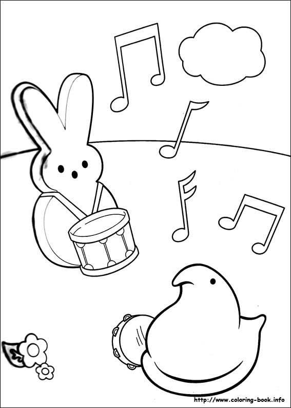Marshmallow Peeps Coloring Picture Baby And Kids Pinterest Peep Coloring Pages