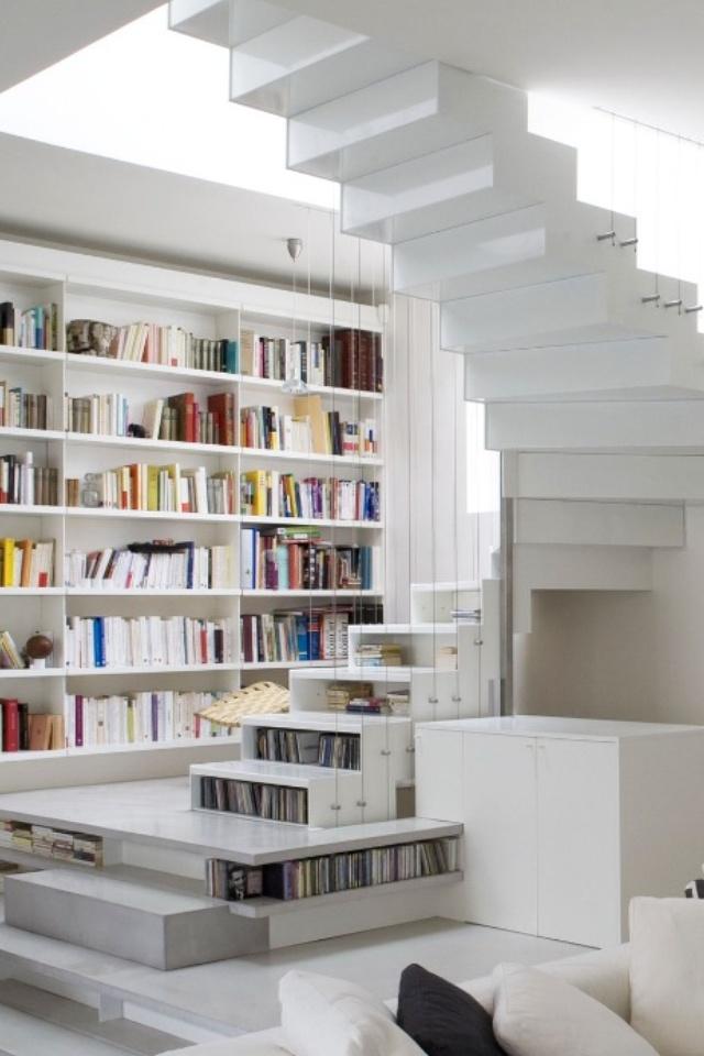 staircase bookshelf for the home pinterest
