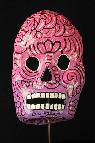 Mexican decorative paper skull mask, Mexico DF
