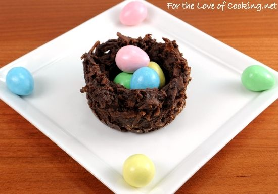 Coconut and Chocolate Nests from For the Love of Cooking (http ...