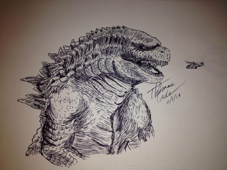 Godzilla 2014 Pencil Sketch and More Fan ArtGodzilla 2014 Sketch