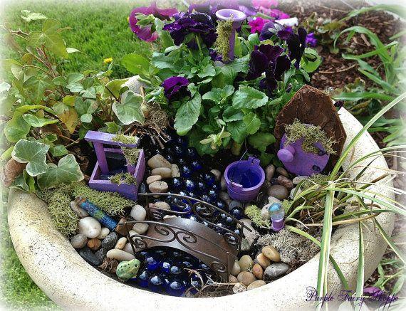 purple fairy garden kit fairy garden kit miniature