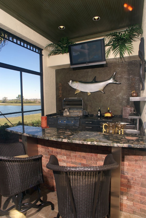 The ultimate man cave outdoor kitchen for the home for Man cave kitchen ideas
