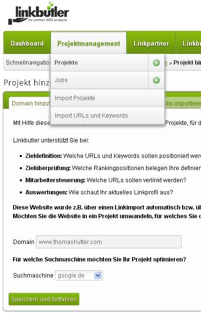 SEO: Backlink-Management mit linkbutler