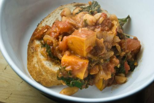 the gouda life...chipotle white bean stew with sweet potatoes and kale