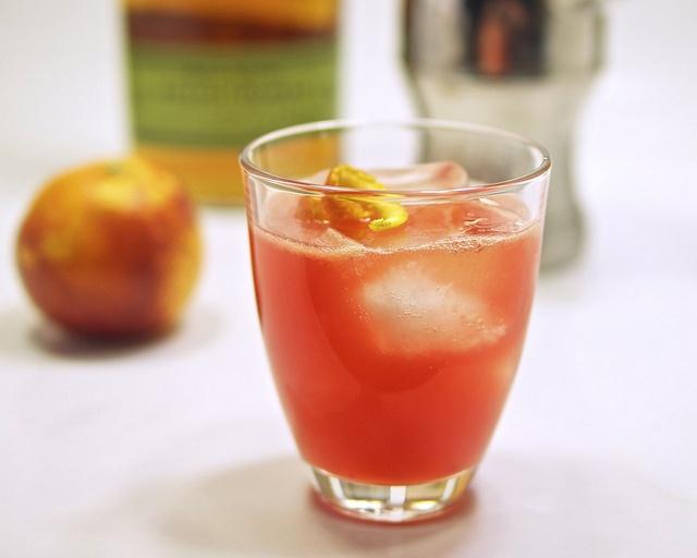 rye and blood orange old-fashioned | breakfast | Pinterest