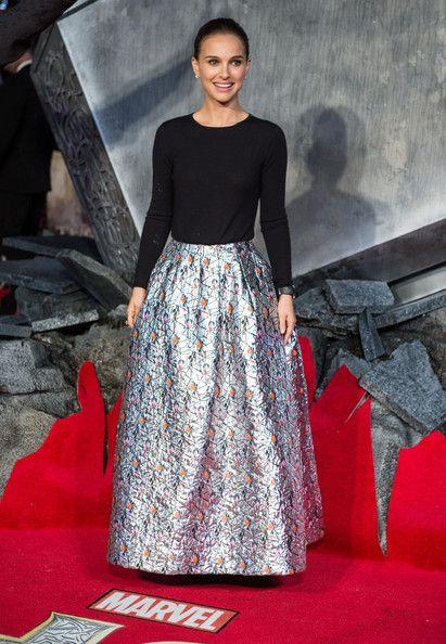 Natalie Portman in Christian Dior @ 'Thor: The Dark World' premiere in London
