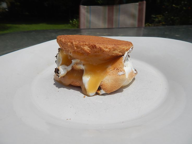 meringue pie s'more. Lemon cookie, lemon curd and toasted marshmallow ...