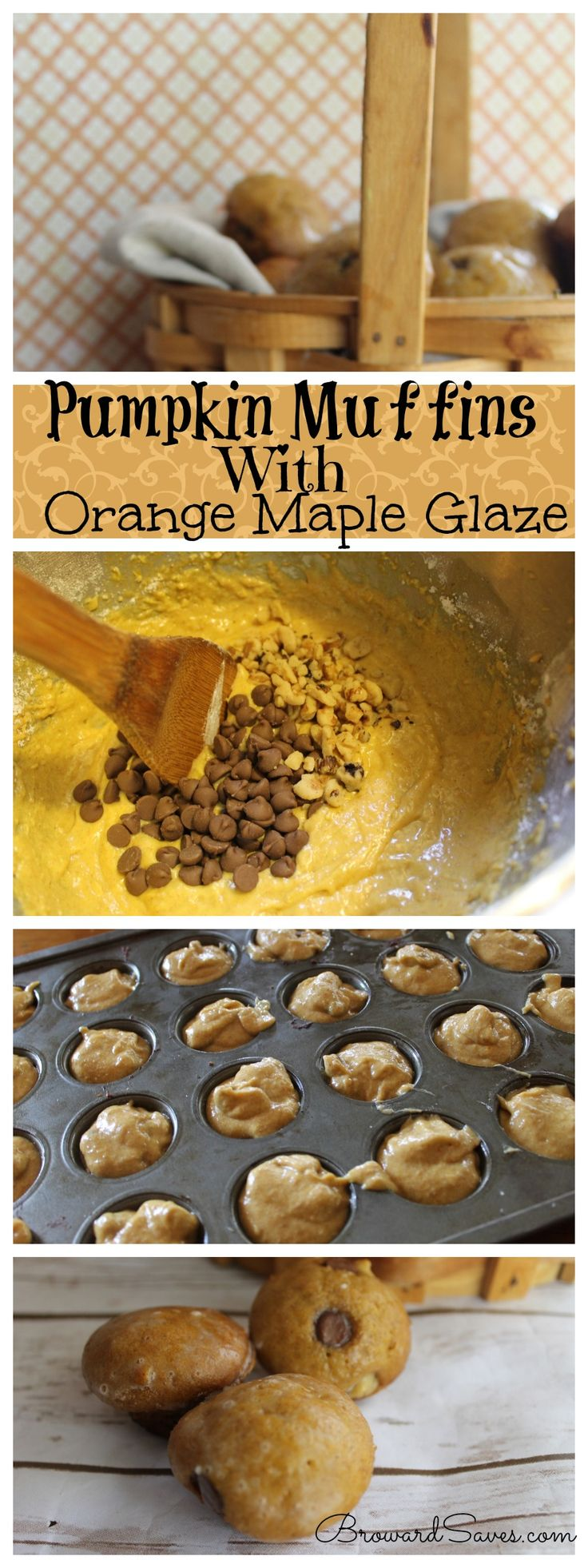 Easy Pumpkin Muffins with Orange Maple Glaze. So easy to make and the ...