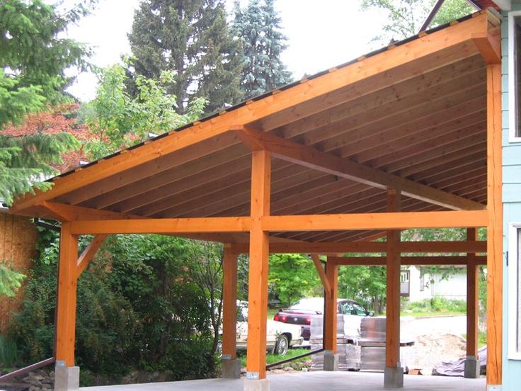 Timber framing carport pinterest for Timber framing plans