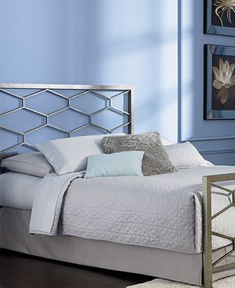 barlow golden frost queen bed metal bed frame mattresses macys