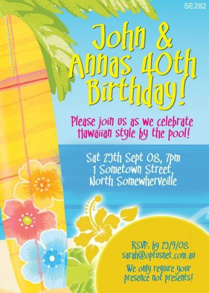 Hawaiian Themed Invitations for great invitations example