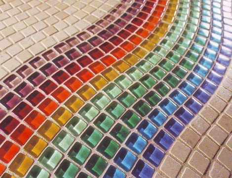 Carrelage mosa que arc en ciel pinterest for Carrelage mural mosaique