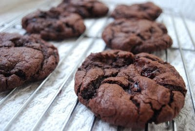 Dark Chocolate Cookies With Sour Cherries Recipe — Dishmaps
