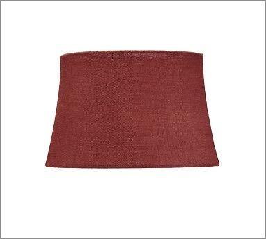 burlap sheer tapered drum lamp shade medium sienna red potterybarn. Black Bedroom Furniture Sets. Home Design Ideas