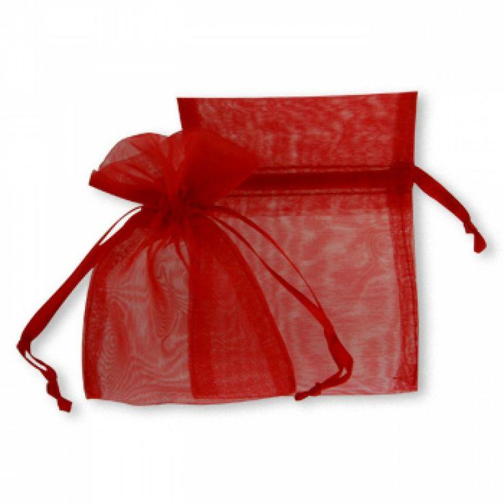 Sheer Wedding Favor Bags Bulk : Sheer Organza Favor BagsRed [403802-403823 Red Organza Bags]