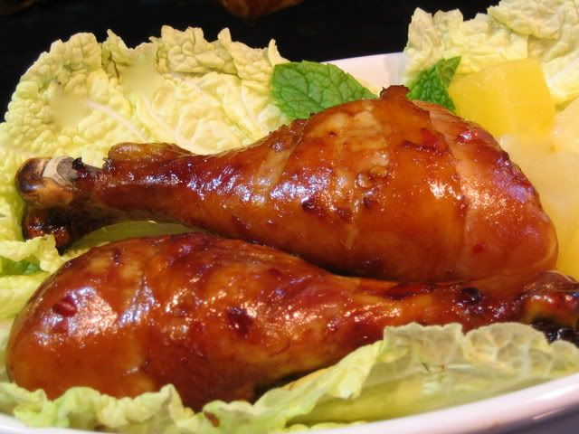 Luau chicken- use chix wings for easier finger food