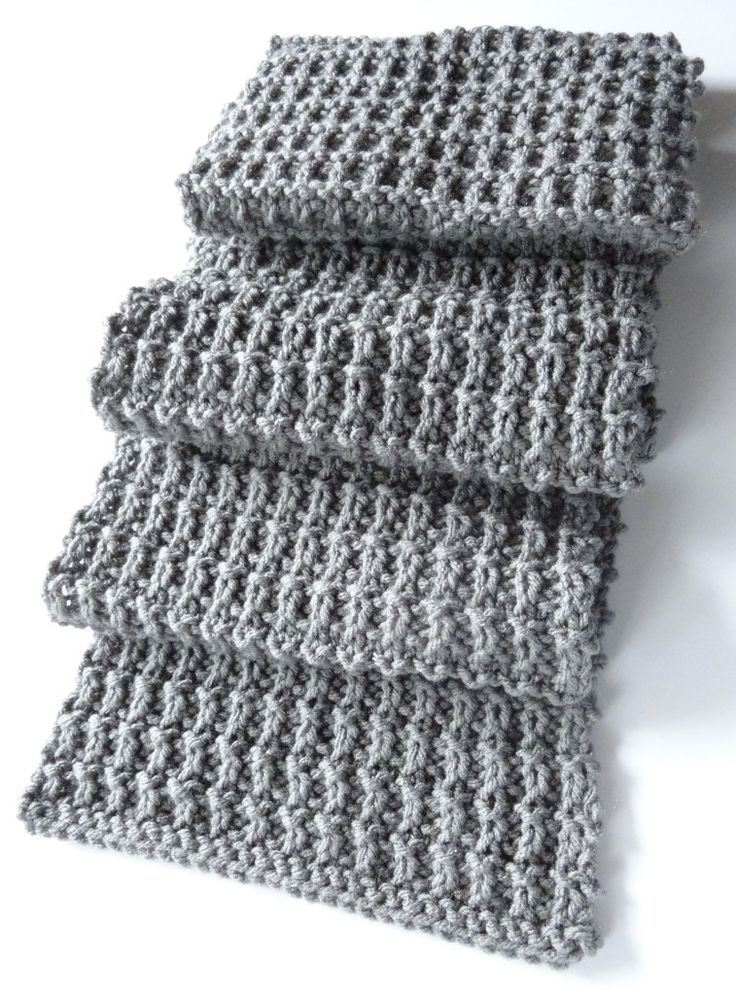 Ridge Rib Men Scarf 2 Knitting Pinterest