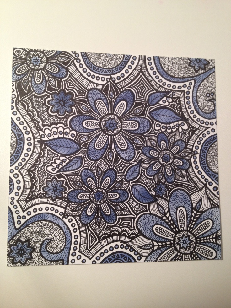 Zentangle Art With Color Zentangle Color