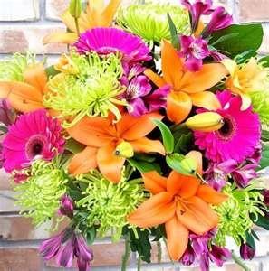 Wedding Colors Pink Orange Green