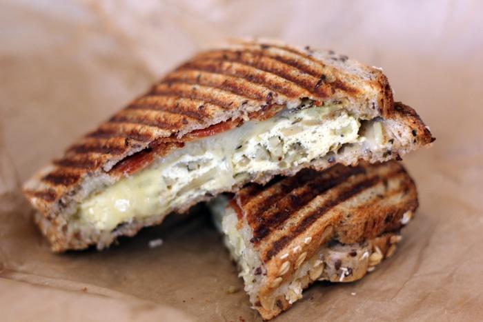 breakfast sandwich from Render Coffee in #Boston