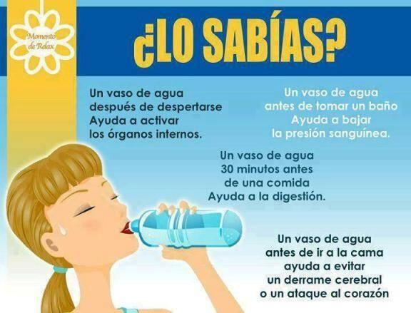 Beneficios de beber agua infinitos salud pinterest - Agua para beber ...
