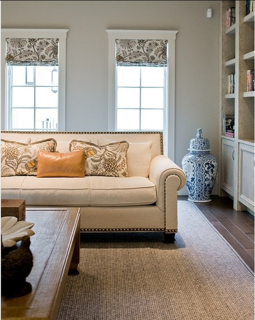 Window treatment living room pinterest for Living room window treatments