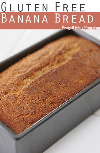 gluten free banana bread - use GF flour mix instead of rice flour