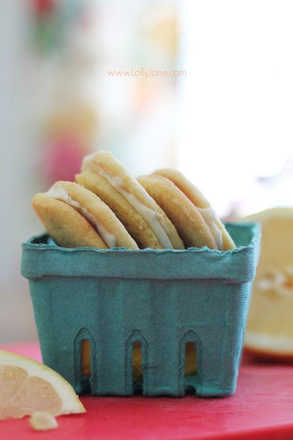 Pink Grapefruit Sandwich Cookies, SO yummy!! @Lauren Jane Jane ...