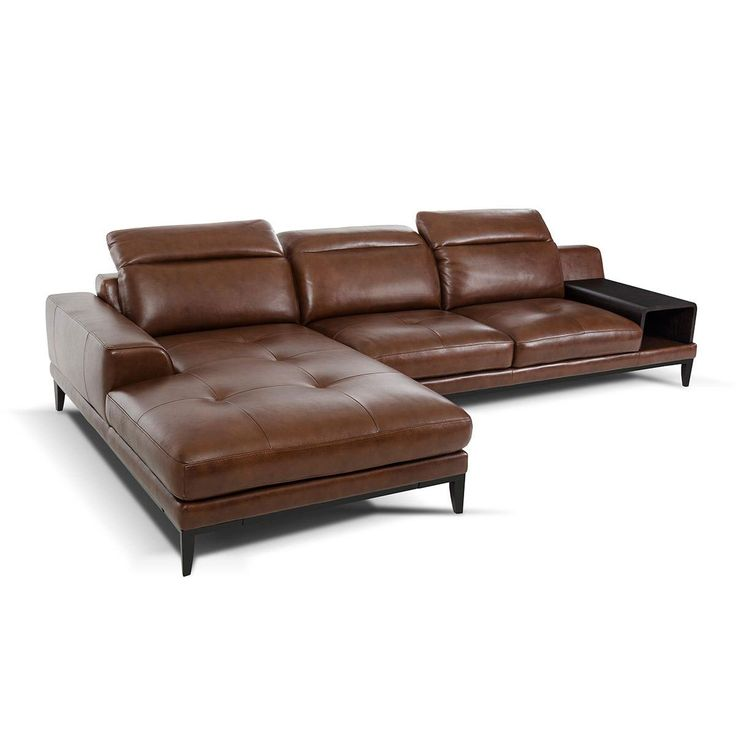 Truckee leather sofa chaise for Chaise leather sofa