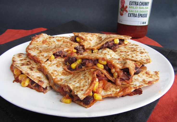 Easy Cheesy Black Bean & Corn Quesadillas | Once Upon a Cutting Board