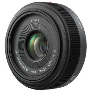 The lens that comes with the GF1. Fixed 20mm (40mm equivalent) with a lovely F1.7 for taking photos in available light.