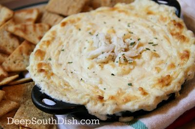 Hot Crab Dip - a delicious hot party dip made with cream cheese ...
