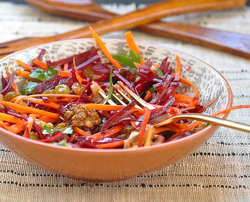 Carrot and Beet Slaw with Walnuts and Raisins | Made In Our Kitchen ...