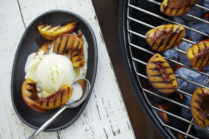 More like this: grilled peaches , vanilla ice cream and rum .