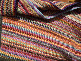 Moss Stitch Crocheted Afghan Crochet Pinterest