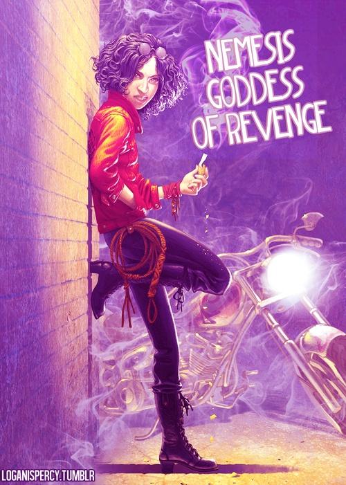 Nemesis the goddess of...