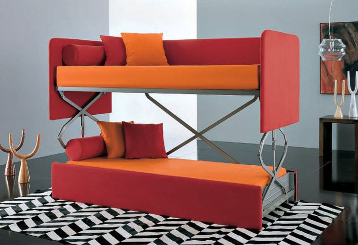 Couch That Turns Into A Bunk Bed For The Kids Pinterest