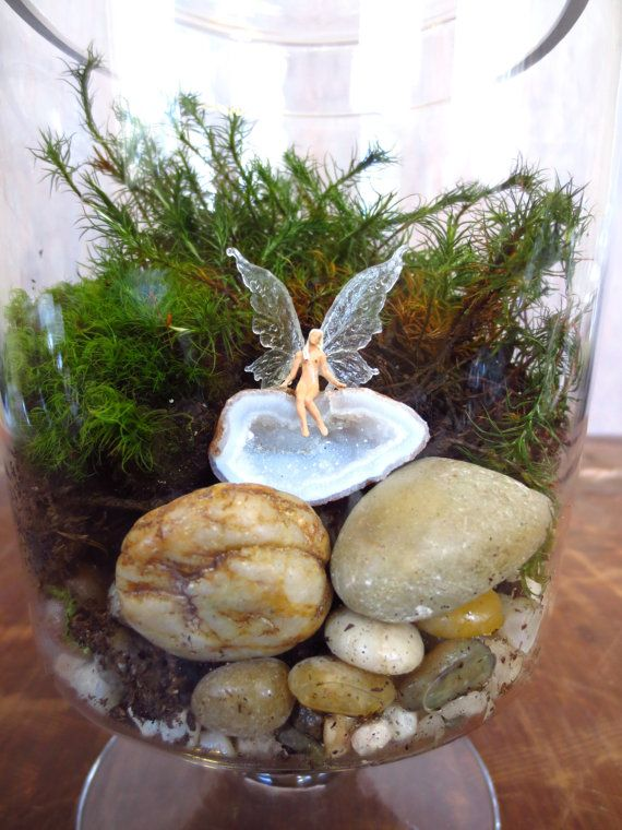 Find Your Own Wings....Miniature Fairy Terrarium Accessory Fairy Garden Miniature Tiny Faerie Garden Furniture Tiny People Encouragement