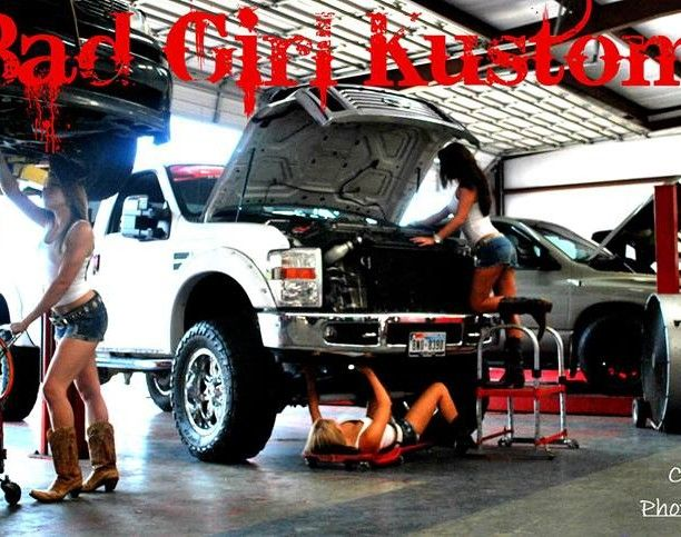 Girls nude with lifted trucks advise you