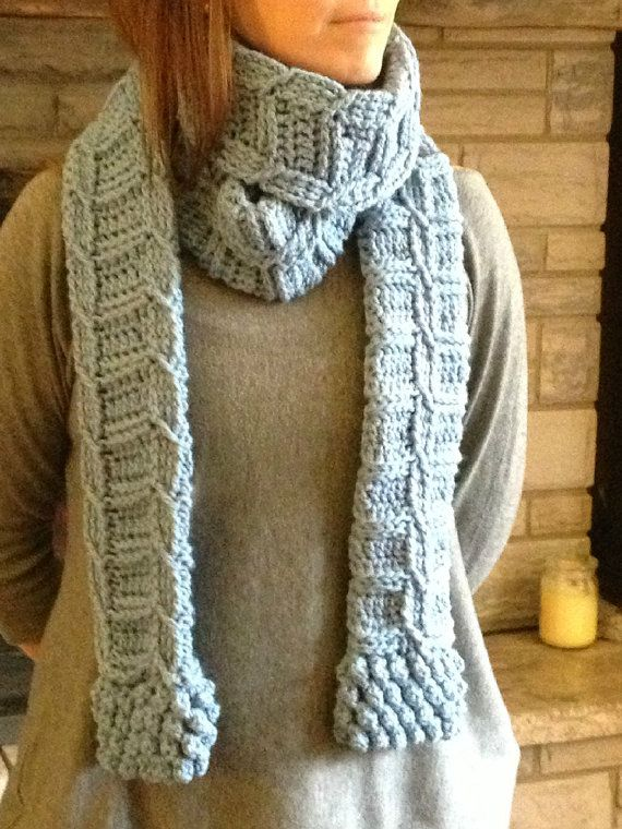 Crochet Scarf Patterns With Cables : Crochet Cable Scarf