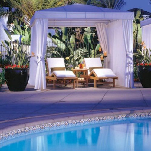 Swimming pool cabana yard pinterest for Swimming pool cabanas